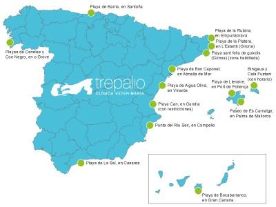 Playas para perros en España 2013